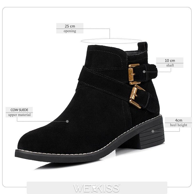 Suqare Printemps Chaussures Daim Grand Vache Cheville Haute Dames Rond noir Bottes Talon Automne Beige Femmes De Mode Bout Taille Zipper Wetkiss 2018 En rCtQshd
