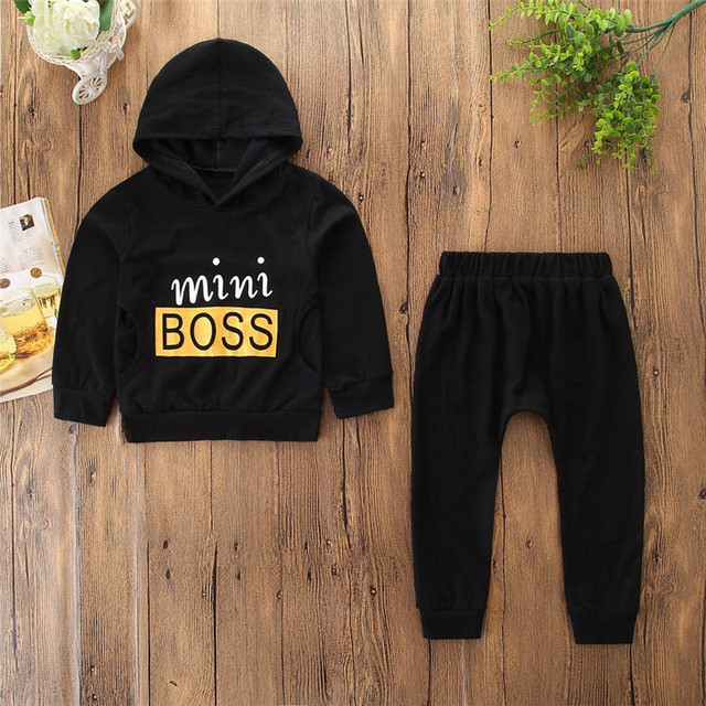 f1a05db990f25 US $5.68 26% OFF|Aliexpress.com : Buy MUQGEW Fashion baby boy clothes set  2PCS Letter Print Top Clothes+Long Pants Winter clothes for baby toddler ...