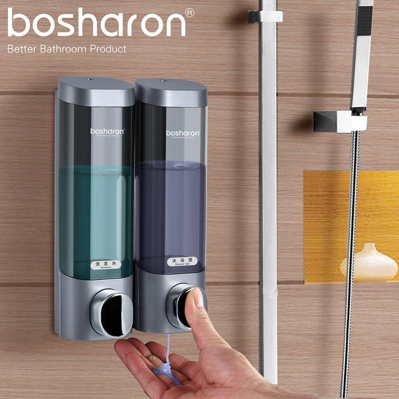 Liquid Soap Dispenser Wall Mount Plastic Detergent Bottles Hotel Shampoo Shower Gel Dispensers Home Kitchen Bathroom Accessories
