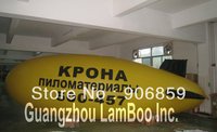 Hot Yellow Inflatable Advertising Blimp with Black Fins/Logo can be put on/Inflatable Zeppelin Airship/DHL Free Shipping