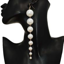 GEREIT элегантные круглые белые серьги с искусственным жемчугом, корейские длинные серьги с большими бусинами для женщин, пирсинг, летние ювелирные изделия