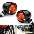 EE support 12V/10W Black retro motorcycle accessories scooter ATV motos motorbike turn signals yellow lights XY01
