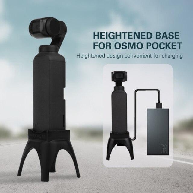 מוגבר בסיס הר עבור אוסמו כיס כף יד מייצב שולחן העבודה Stand Mounts עם טעינת חור עבור אוסמו כיס אבזרים