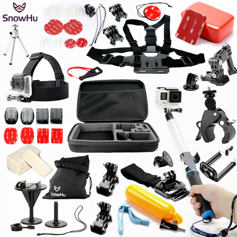 SnowHu for Gopro Accessories Water Surfing set for go pro hero 5 4 3 kit mount for SJCAM SJ4000 xiaomi yi 4k camera eken h9 GS55 smj g 649 bodyboard surfboard surfing fixed bracket for gopro hero3 3 sj4000 black