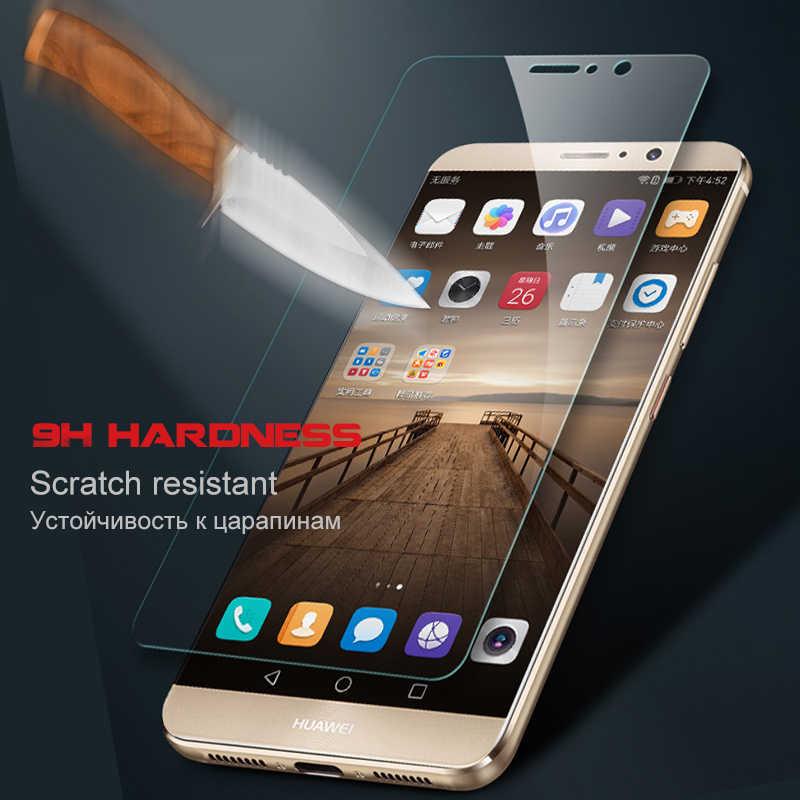 透明フルカバー強化ガラス Huawei 社の名誉 7C 6C 7A プロ 9 8 Lite スクリーンプロテクター huawei 社 Y5 y6 Y7 2018 ガラス