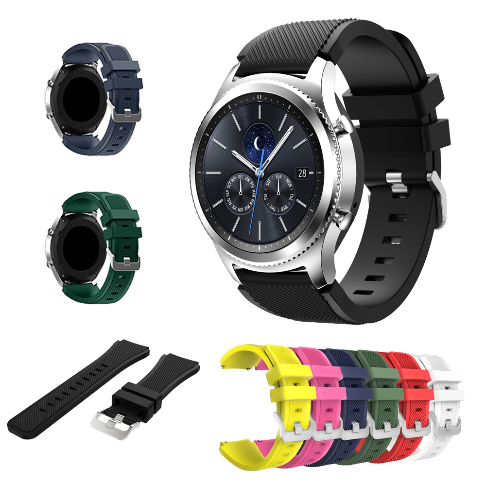 Accessory Band for Samsung Gear S3 Frontier/Classic Replacement Bands Built-in Watch Buckle for Samsung Gear S3 Classic bands смарт часы samsung gear s3 classic хромированная сталь