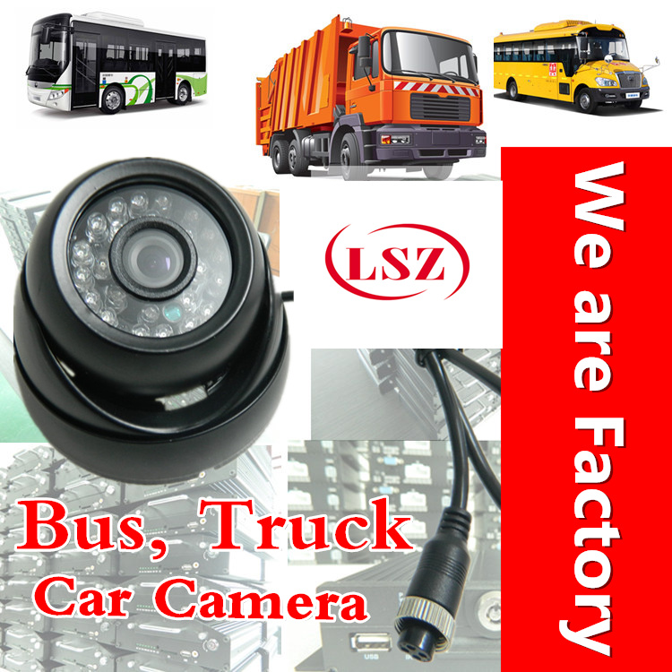 Tour bus camera factory, direct batch of global vehicle monitoring probe, truck built-in audio camera spot car monitoring probe factory direct batch waterproof infrared air head car special camera direct sales