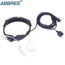 Flessibile Throat Mic Auricolare Walkie Talkie Auricolare PTT Per Baofeng UV 5R UV 82 BF 888S UV S9 BF V9 Abbree AR F6 AR F8 889G TYT