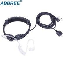 Flexible Throat Mic Headset Walkie Talkie PTT Earpiece For Baofeng UV 5R UV 82 BF 888S UV S9 BF V9 Abbree AR F6 AR F8 889G TYT