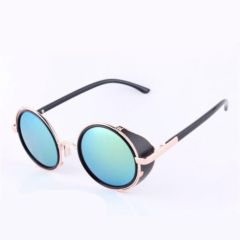 2018 Oculos De Sol Feminino Round Sunglasses Women Retro Vintage Steampunk Sunglass Female Googles Lady Mirror Sun Glasses YJ18