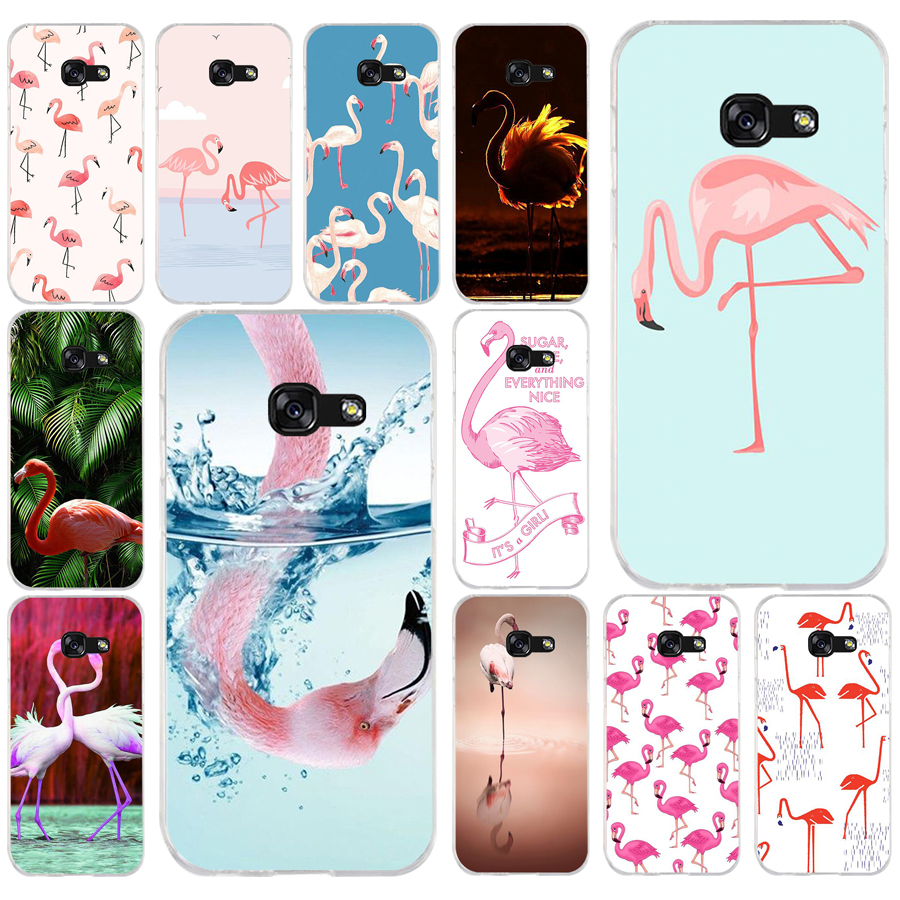 <font><b>105</b></font> Summer Tropical Tropic Flamingo Soft Silicone Tpu Cover phone Case for Samsung a3 2016 a5 2017 a6 plus a7 a8 <font><b>2018</b></font> s6 7 8 9 image