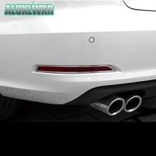 Сзади туман легкая рама стальная отделкой полоса блестками задний свет украшения подходят для audi A3 2013-2016 седан аксессуары автомобиль-Стайлинг