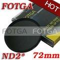 Оптовая продажа FOTGA 72 мм нейтральной плотности ND2 объектив фильтр резьбовым креплением для канона Nikon Olympus камеры