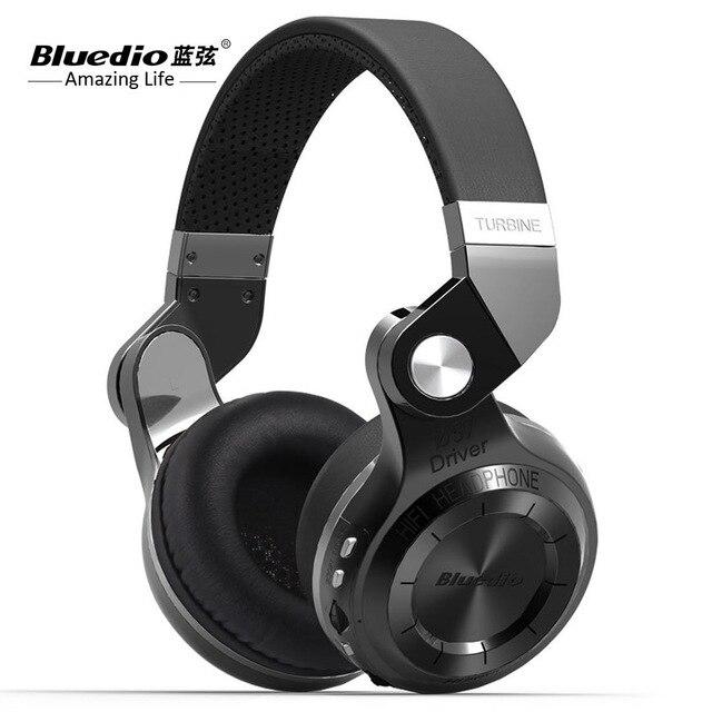 Orignal Bluedio T2 + casque Bluetooth sans fil HIFI casque stéréo bilatéral avec Microphone pour téléphones mobiles et Musi