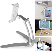 Arvin Adjustable 2 in 1 Kitchen Tablet Holder Stand Flodable Aluminum 360 Rotating Tablet Phone Desktop Lazy Mount For iPad Pro