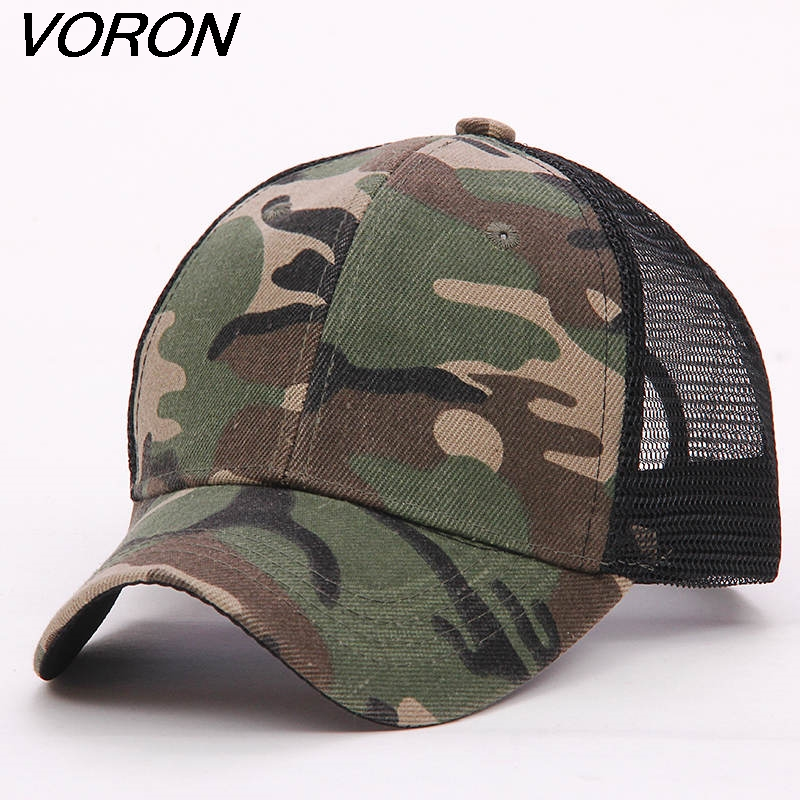 VORON 2017 New Blank mesh camo Snapback Hats camouflage hip hop mens women Casquettes bboy gorras bones baseball caps solid hat [jamont] love skullies women bandanas hip hop slouch beanie hats soft stretch beanies q3353
