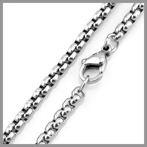 """---Min.Order $10--- 60cm 24"""" Stainless Steel Square Rolo Chain Necklace, Different Width Smooth Link Chains, Free Shipping"""