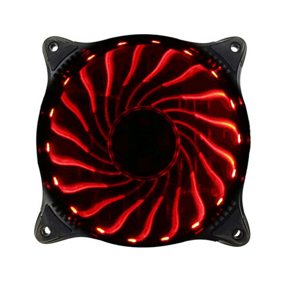 New Adjustable Light Colorful LED CPU fan PC Cooler 12V 12CM 18LED RGB Light PC Cooling Fan Cooler Deep Silence 120mm Fan