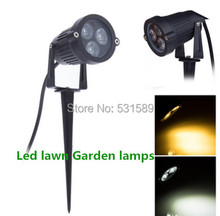 1New Waterproof Outdoor Led lawn Garden lamps landscape lighting for Path 9W AC 85-265V 3 Year Warranty