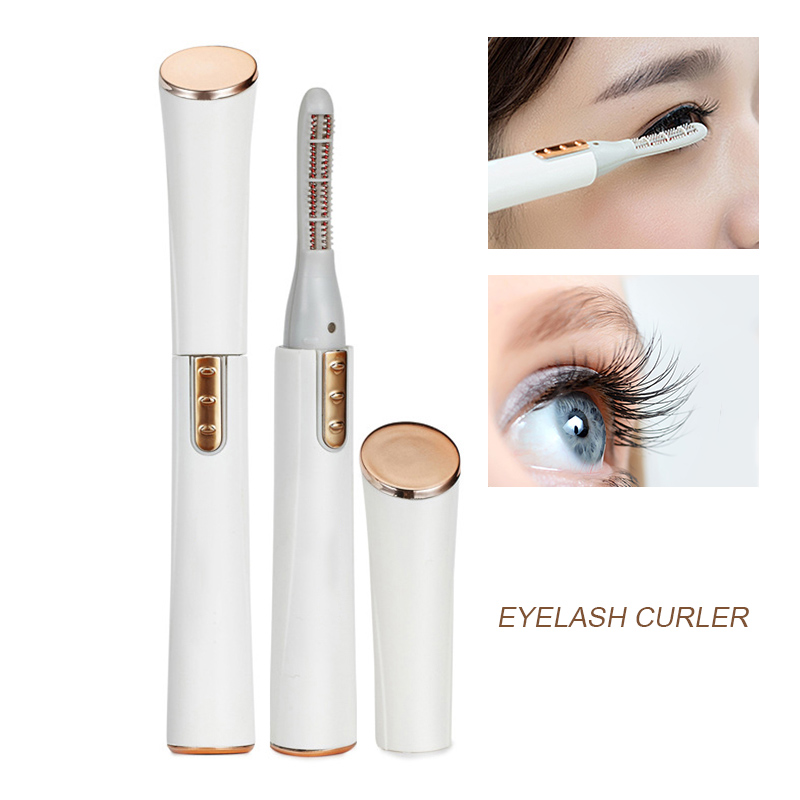 2018 Electric Eyelash Curler Pen Battery Powered Longer Thicker Eye Lash Curling Enhancer Makeup Tool