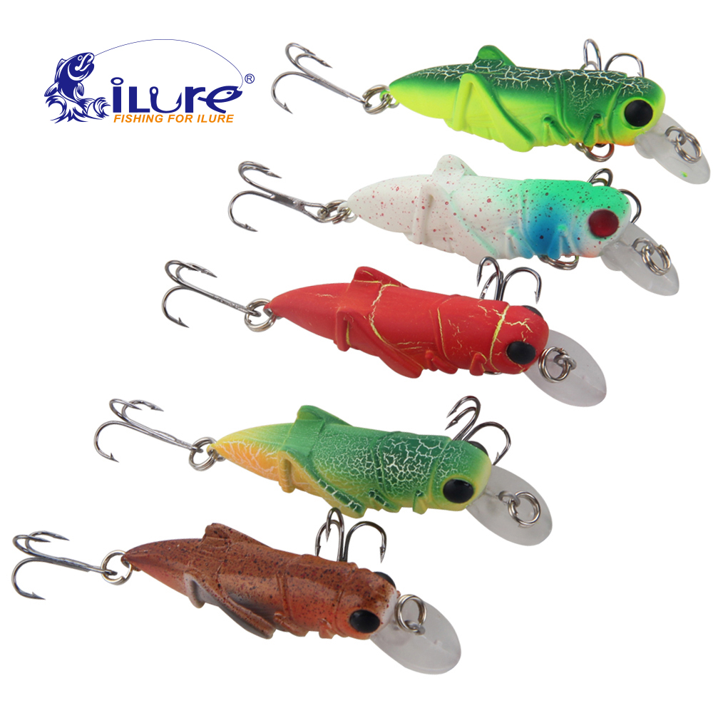 Freshwater fish bait - Ilure Fishing Bait 3g 55mm Locust Worm Fishing Bait Kit Pesca Carp Bait Isca Hard Lures