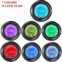 2 52mm Blue Red 7 Color Water Temp Temperature Car Digital LED Gauge Tint Len Free