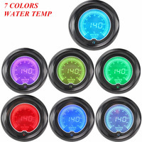 EE support 2 Digital Clocks Universal Car Accessories Colors LED 52mm Water Temp Gauge Tint Len Temperature Meter XY01