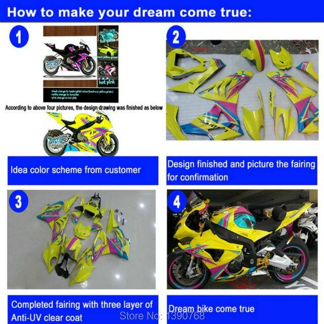 Kit de carpette de moulage injection 100% fit   Pour Suzuki GSXR600/750 08 09 10 rouge blanc GSXR600/750 2008 2009 IY49