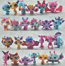 24 pcs/lot LPS NEW Cartoon Vinyl Toy Dolls Pet Action Figures Unicorn Kitty Mini Birthday Toys for Children Animals Sets