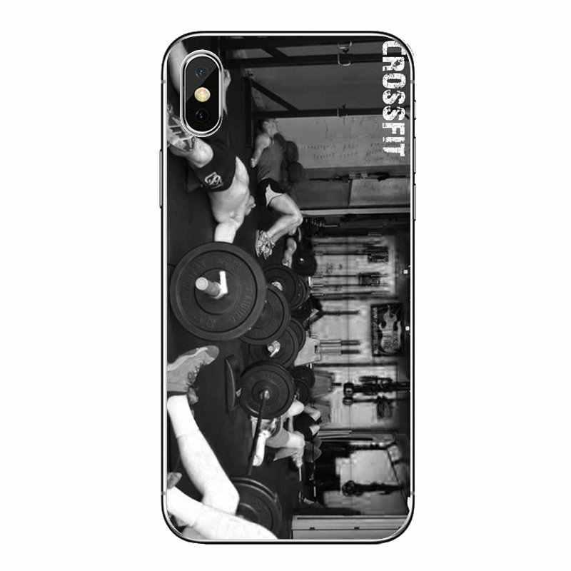 クロスフィットトレーニングクレイトフィットネス施設シリコーン電話バッグケース ipod touch の iphone 4 4 S 5 5 S 5C SE 6 6 S 7 8 × XR XS プラス最大