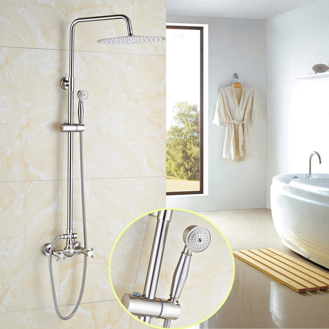 High End Best Quality 12 Rainfall Shower Head With Br Hand