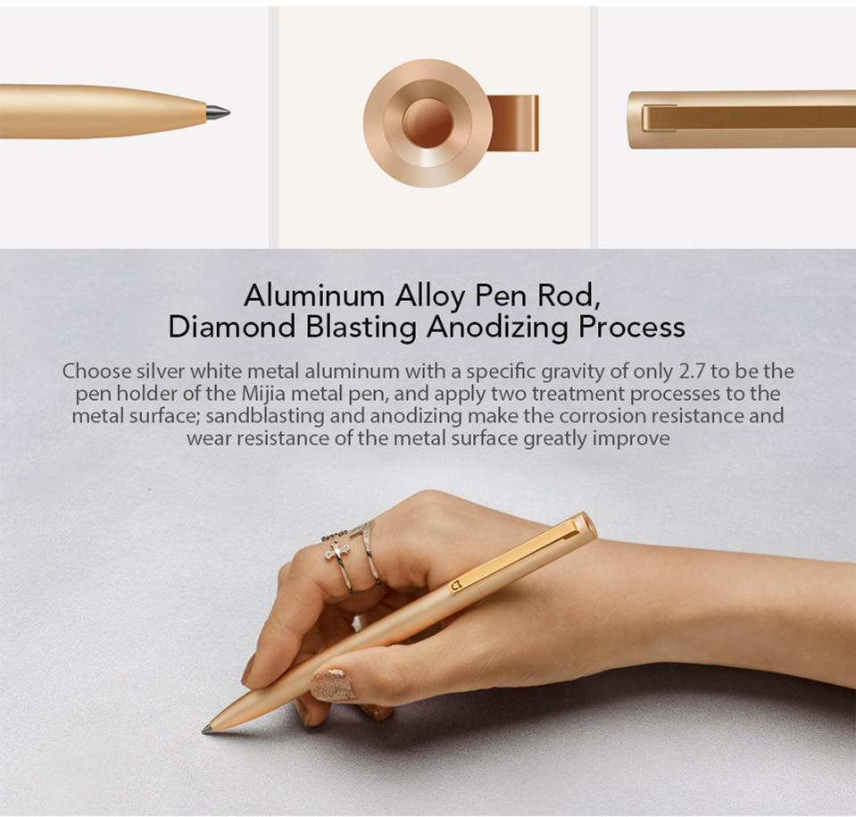 Xiaomi-Mjia-Metal-Signing-Pen-Aluminum-Alloy-180-Degree-Rotation-PREMEC-Refills-0.5mm-Rolling-Ball-Pen-MiKuni-Japan-Ink (2)