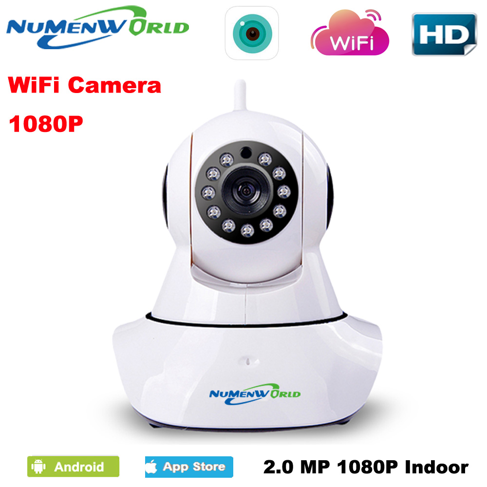 HD 1080P IP Camera wifi camera surveillance camera sd 64GB camara Wireless p2p IP camara PTZ Wifi Security Cam free shipping
