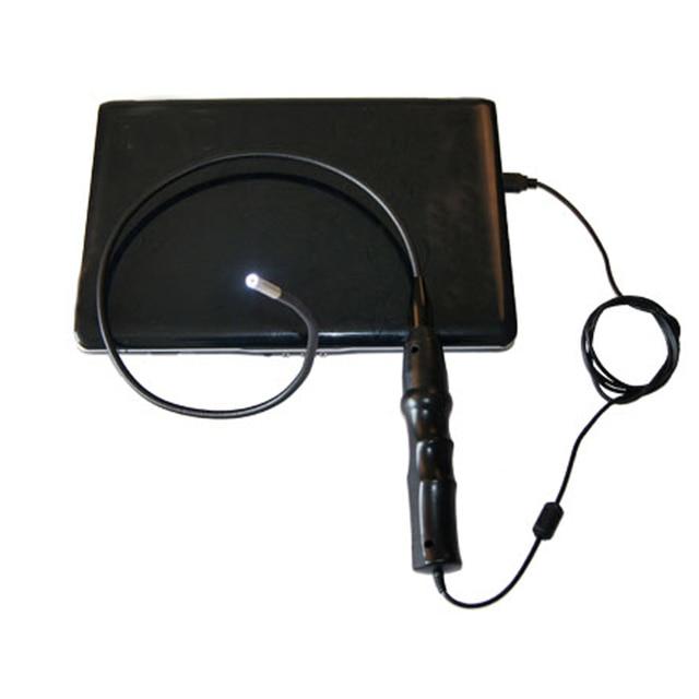 Free shipping 6LEDs/5.5mm USB Endoscope Inspection Snake Camera Borescope+Magnet+Hook+Mirror car diagnosis