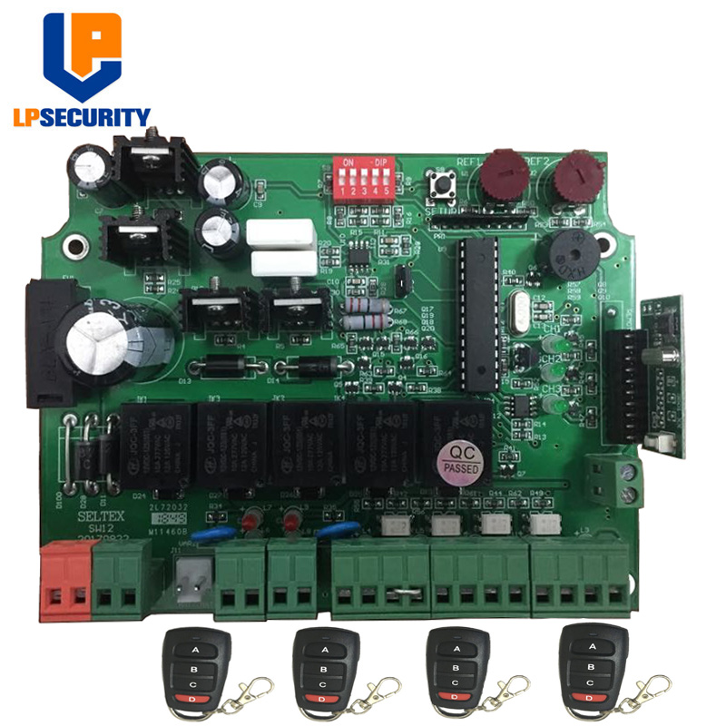 12V DC PCB board control board pane of Automatic Double arms swing gate opener with key