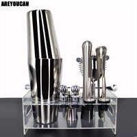 12 teile/satz 750/600 ml Cocktail Shaker Set kit Bartender Kit shaker Edelstahl Bar Tool Set Bartending Kit mit Wein Rack