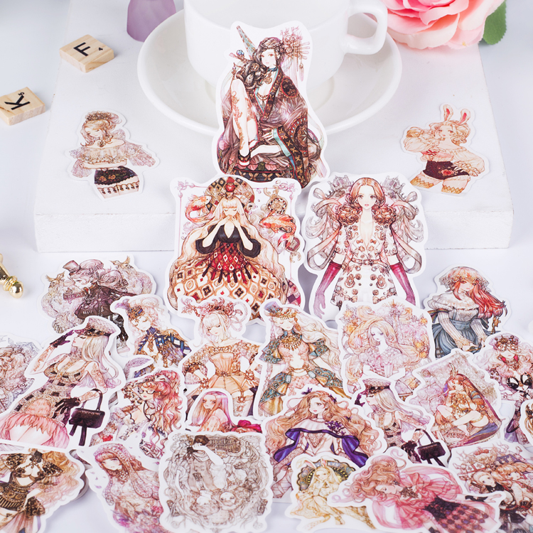 Купить с кэшбэком 190pcs/pack Sen Goth girl Lolita girl Stickers Bike Motorcycle Phone book Travel Luggage kids toys Funny Sticker Bomb Decals