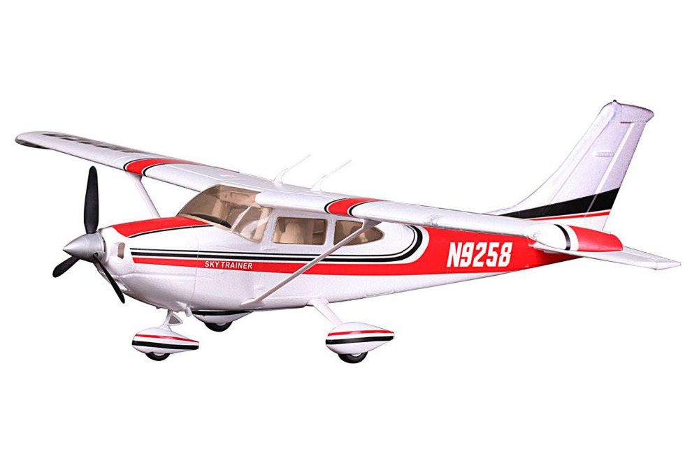 цены FMS Model 1400MM / 1.4M Sky Trainer Cessna 182 AT Red 5CH with flaps LED PNP Scale RC Model Plane aircraft
