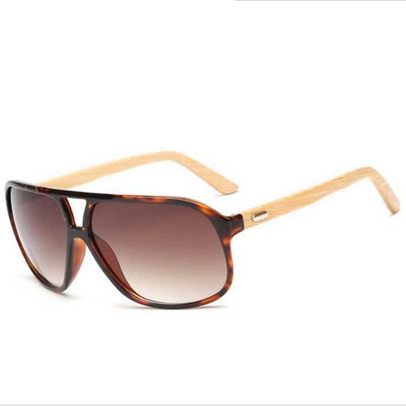 módní nadměrné bambusové brýle pánské ženy značkové - Příslušenství pro oděvy - Fotografie 3