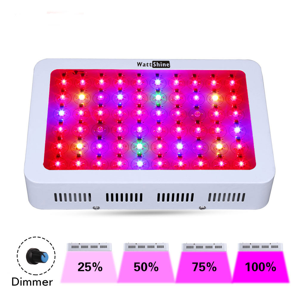 300W LED Dimmer plant light Dimming lamp hydroponics lighting Dimmable plant Greenhouse cultivation UV IR Growing plants lamp 180w led dimmer grow light dimming lamp dimmable control flower plant greenhouse cultivation uv ir 3w growth chip 100 240vac