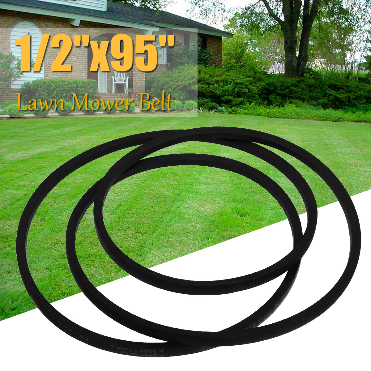 1pcs 13mm 1/2 x 95 A93V Industry Lawn Mower Belt Black Rubber Tapes for Yard Machine Lawn Mower K Type Vee V Type Belt