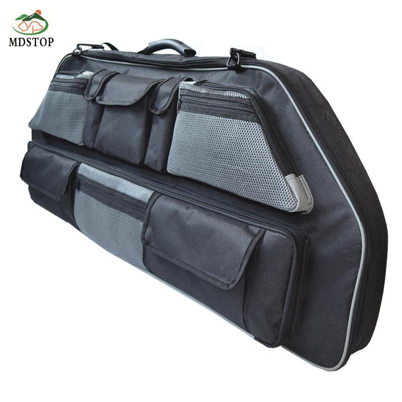 Prix pour Écologique faire portable flèche sac transporteur arc titulaire avec réglable bretelles un transport facile avec rembourré 8 poches