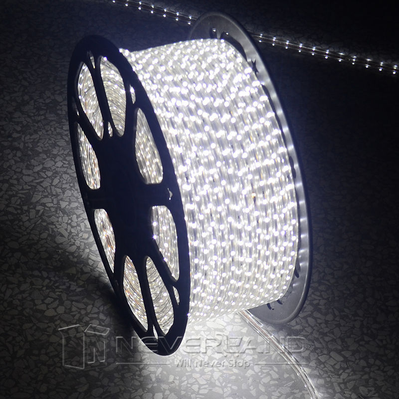 Cool White Waterproof 220V IP67 5-100M 60 LEDs/ meter Bright Flexible 5050 SMD LED Outdoor Garden Home Strip Rope Light 0 9m smd 3528 90 leds waterproof led rope light festival lighting