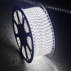 Cool White Waterproof 220V IP67 5-100M 60 LEDs/ meter Bright Flexible 5050 SMD LED Outdoor Garden Home Strip Rope Light