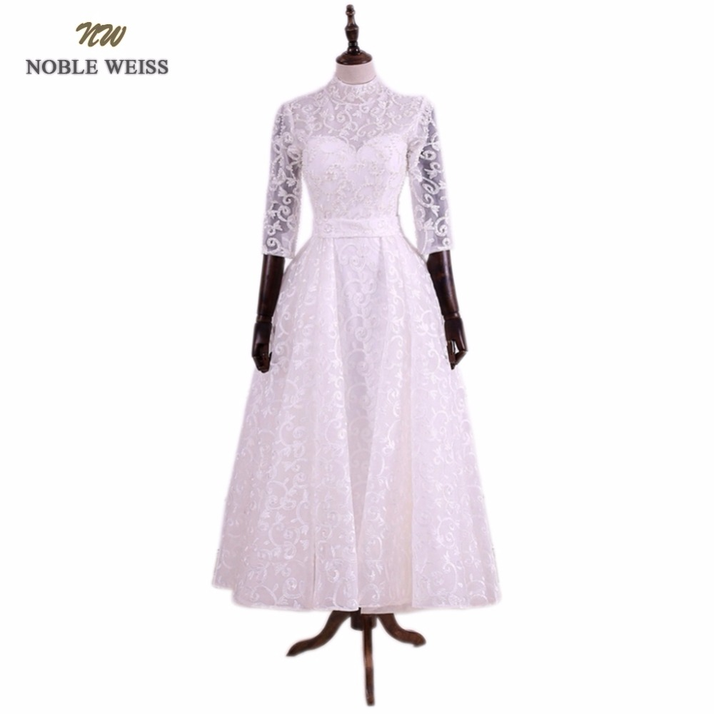 Hochzeitskleider Vorne Kurz Hinten Lang Us 146 28 8 Off Noble Weiss Lace Wedding Dresses With Beaded Sequin Brautkleid Vorn Kurz Hinten Lang Short Front Long Back Bride Gowns In Wedding
