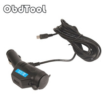 three.5M 5V 3A Automotive Charger Cable Mini USB Port Hardwire Charger Wire for Sprint Cam Camcorder Car DVR Cellular Cellphone LR15