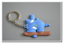 custom key holder for kids, souvenirs, gift. Cartoon rubber labels, make as customer's design, PVC material