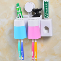 Creative Environmental Automatic Toothpaste Dispenser Toothbrush Holder Wash Suit Couple Cups Brushing Teeth with Box with Cup