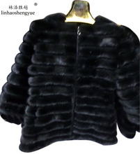 Linhaoshengyue Mink and long 7 minutes of sleeve high quality fur coat