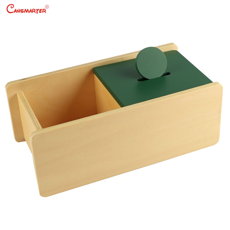 Montessori Sensorial Training Green Round With Box Preschool Materials Home Games Educational Toys Safe Wood 0 3 Years LT036 30| |   - title=